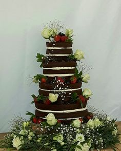 Chocolate Raspberry Naked Cake Wedding Favours, Wedding Reception, Wedding Cakes, Chocolate Stout, Fondant Icing, Artisan Bread, Marzipan, Confectionery, Celebration Cakes