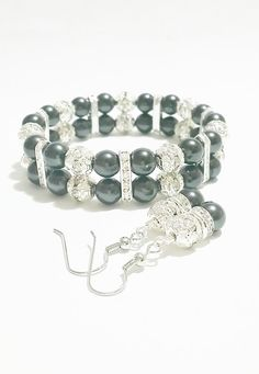 Bridesmaid Black Pearl Bracelet and by VickysLittleSecrets on Etsy, $16.50