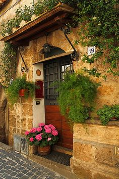 Medieval Village, Yvoire, France photo on Sunsurfer Medieval Village, Yvoire, Beautiful Homes, Beautiful Places, Window Planters, Tuscan Design, Garden Doors, Window View, Through The Window