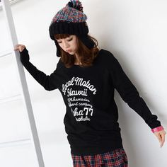 Buy '59 Seconds – Lettering-Print Long-Sleeve Top' with Free International Shipping at YesStyle.com. Browse and shop for thousands of Asian fashion items from Hong Kong and more!