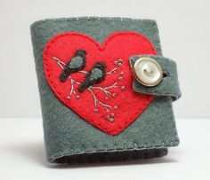Felt Needle Book / Love Birds by BananaBugAndZod on Etsy