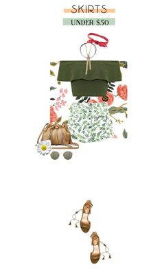 """skirtunder50"" by fanfan-zheng on Polyvore featuring Rifle Paper Co, Chicnova Fashion, WearAll, Report, Diane Von Furstenberg, Charlotte Russe, Ray-Ban, under50 and skirtunder50"