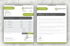Creative Invoices + Cover Letter by Dotnpix on Creative Market