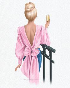 Fashion Artwork, Fashion Wallpaper, Fashion Wall Art, Fashion Prints, Fashion Illustration Dresses, Illustration Girl, Cute Girl Drawing, Watercolor Fashion, Fashion Design Sketches