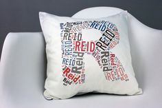 Modern Personalized Pillow Initial Nursery Pillow by modifiedtot, $55.00