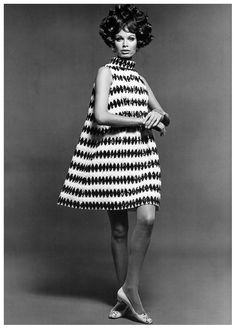 Gloria Friedrich, photo by Rico Puhlmann, published in Berlin Fashion Export Journal, 1968:69 b