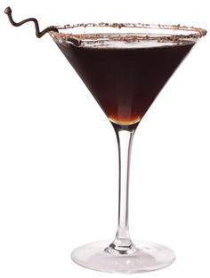Iced coffee with a Kahlua and vodka kick! The perfect martini for the coffee fanatic in your life. Vodka Cocktails, Cocktail Drinks, Fun Drinks, Yummy Drinks, Beverages, Martinis, Party Drinks, Martini Party, Alcoholic Drinks