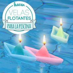 Hacer velas flotantes para piscina