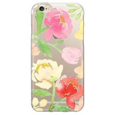 OTM Artist Prints Clear Phone Case, Peonies Gone Bright - iPhone 6