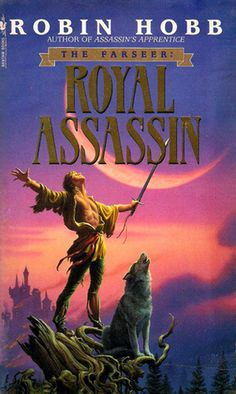 Royal Assassin (Farseer Trilogy, by Robin Hobb, art Michael Whelan. Fantasy Book Covers, Book Cover Art, Fantasy Books, Farseer Trilogy, Royal Assassin, Robin Hobb, Sci Fi Books, Photo A Day, Science Fiction
