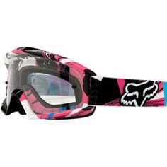Fox Pink,Turqouise and Black riding goggles!!!