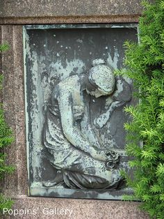 Photo by Poppins' Garden on Flickr.  The artist was Carl M Geiling from Düsseldorf. From the cemetry, Landskrona, Sweden.