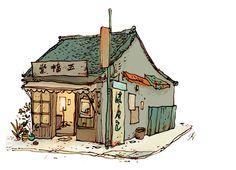 Tokyo Shop by Qin Leng