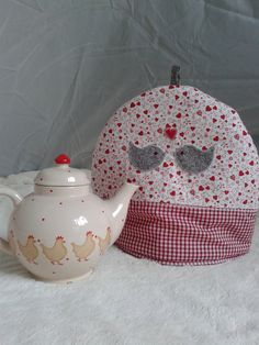 Large Teacosy. Fabric Sewn Applique Shabby Chic by blueberryfudge, £16.00