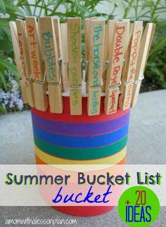 DIY Summer Bucket List. Cute! #diysummer