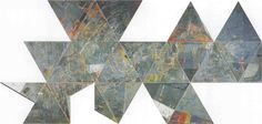 Jasper Johns, Map, Made of Encaustic pastel and collage on canvas 22 parts
