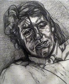 Lucian Freud- etching