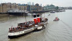 paddle steamer waverely & general marine tug general Vlll /05/10/2013/ by philip bisset, via Flickr