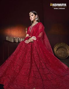 The opulence of the color red and our intricate design is all that you need to flaunt in your wedding!  #Aishwarya #BrideOfHonour #HouseOfEthnic #Festivewear #Ethnicsarees #indiandesigners #bridalcouture #traditionalwear #lehengastyle #ethnicfashion #festiveseason #indianweddings #weddinginspirations #WeddingWear #OutfitOfTheday