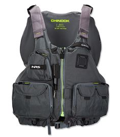 Created with anglers in mind, the Chinook features seven front pockets for fly boxes, tippet, and various accessories. Type III PFD with a multitude of gear attachment points, including a coil retractor. Ideal for kayak fishing and extended trips, the mesh back offers comfort on high-back seats and keeps you cool when the temperatures creep up. Roomy front-entry design with eight adjustment points let you customize the fit, while soft PlushFIT foam floatation conforms to your body with wear…