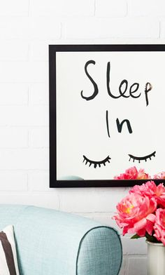 Mirrored Wall Art - Sleep In