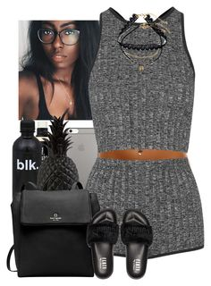""""" by jemilaa ❤ liked on Polyvore featuring Native Union, Bare Escentuals, Pols Potten, Topshop, Kate Spade, Puma and Decree"