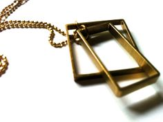 square and rectangle necklace