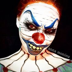 #Halloween #SephoraSelfie look: Creepy Clown by annamonina. Tag your pics with #SephoraSelfie for a chance to be featured!