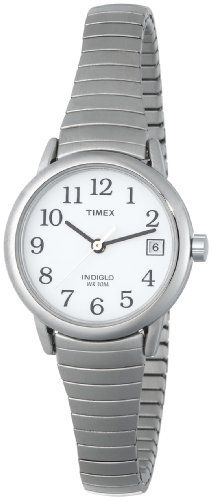 Timex Women`s T2H371 Easy Reader Silver-Tone Stainless Steel Expansion Band Watch $28.92