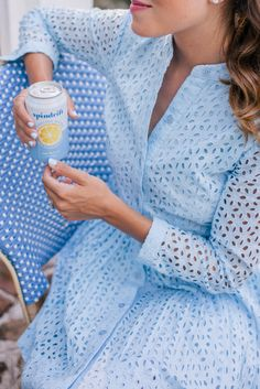 """Summertime Blues This dress! Gal Meets Glam Summertime Blues – essie nail polish in """"blue-la-la"""" c/o African Fashion Dresses, African Dress, Fashion Outfits, Preppy Mode, Preppy Style, Stylish Dresses For Girls, Lovely Dresses, Dress Indian Style, Indian Outfits"""