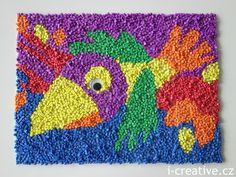 Foam Mosaic. Mozaika z kousků pěnové gumy.