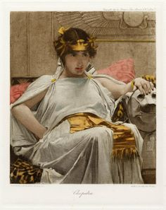 J. W. Waterhouse. Cleopatra from The Graphic gallery of Shakespeare's heroines. Color print, 1896. Folger Shakespeare Library.