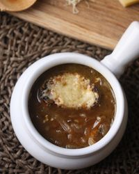 French Onion Soup with Whole-Grain Cheese Toast Recipe on Food