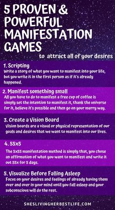 If you want to manifest more into your life with the Law of Attraction you have to make it simple and actionable. Learn the top 5 proven and powerful manifestation games to attract all of your desires easily and quickly. of attraction changing Manifestation Journal, Manifestation Law Of Attraction, Law Of Attraction Affirmations, Manifestation Meditation, Law Of Attraction Meditation, Spiritual Meditation, Meditation Quotes, Chakra Meditation, Mindfulness Meditation
