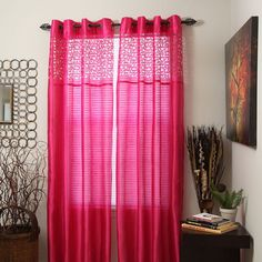 Portsmouth Home Sonya Sheer Curtains, Purple
