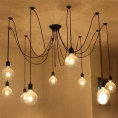 Żyrandol z żarówek / bulb  chandelier