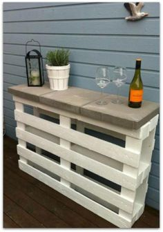 Two pallets. Patio stone tops.