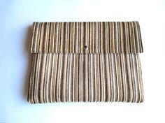 Brown stripes MacBook Air 13 sleeve MacBook Pro 13 by StudioSleeve, $25.00