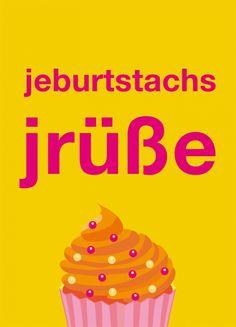 Postkarte: jeburtstachsjrüße