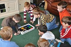Have you ever played LEGO Creationary?  http://partiesandholidays.blogspot.com/2011/01/lego-themed-birthday-party.html