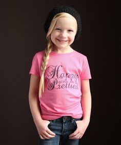 Pink 'Happy Girls' Tee - Girls