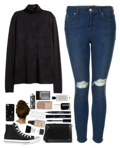 """""""Have you found yourself?"""" by amy-gray0 ❤ liked on Polyvore featuring Topshop, H&M, Converse, CHARLES & KEITH, Smashbox, Bobbi Brown Cosmetics, Christian Dior, ASOS, Essie and Charlotte Tilbury"""