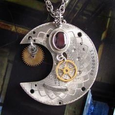 Steampunk Silver Moon by clockwork-zero.deviantart.com on @DeviantArt