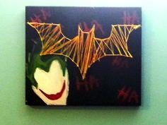 Batman and Joker String Art by StringArtOriginals on Etsy, $30.00