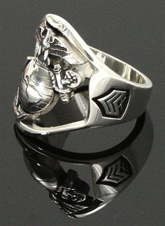 marine ring - Google Search Once A Marine, Marine Mom, Marine Life, Marine Corps Rings, Us Marine Corps, Usmc Ring, Marine Corps Birthday, Air Force, Sterling Silver Rings