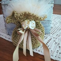 Sacchetti per nozze d'oro fatti a mano