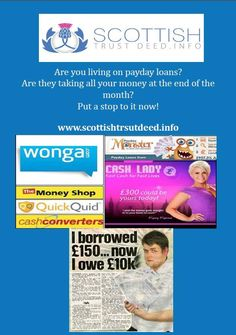 Debt From Pay Day Loans - http://www.scottishtrustdeed.info/debt-from-pay-day-loans/