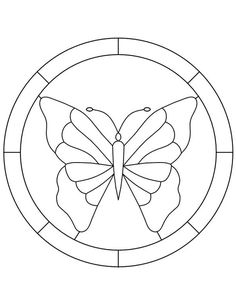 Stained Glass Patterns for FREE 997 Butterfly .jpg
