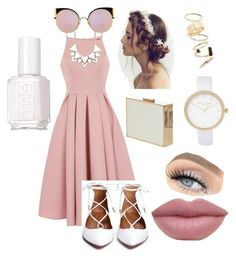 """""""Pink 💓"""" by sa7araa ❤ liked on Polyvore featuring Chi Chi, AX Paris, Fendi, Full Tilt, BP., River Island and Essie"""