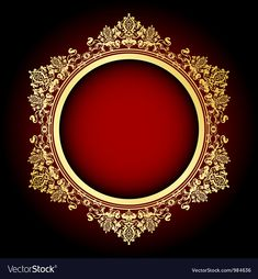 Gold and red frame Royalty Free Vector Image - VectorStock , Wedding Background Images, Wedding Invitation Background, Banner Background Images, Background Images For Editing, Gold Background, Apple Logo Wallpaper Iphone, Graphic Wallpaper, Orange Wallpaper, Creative Poster Design